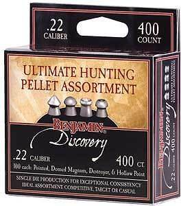 Crosman Benjamin Pellet Assortment Sampler 400 .22 Domed Hollow