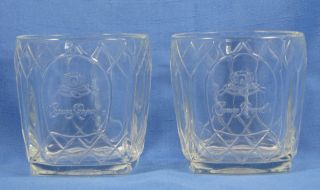 Clear Crown Royal Barware Whiskey Drinking Glasses