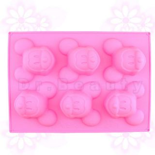 New Mickey Mouse Silicone Cupcake Muffin Mold Cake Pan Tin