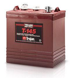 Trojan 6 Volt T 145 Golf Cart Batteries   6 Batteries