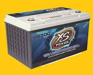 XS Power Deep Cycle 12 Volt 12V AGM Power Cell Battery D6500 Brand New