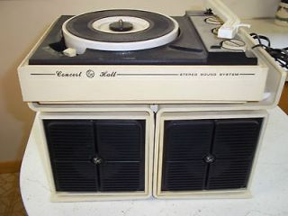 GE Concert Hall Portable Record Player Turntable Phonograph Stereo