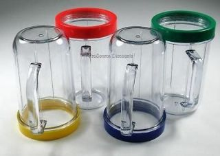 PARTY CUPS MUGS With COLORED RINGS For MAGIC BULLET JUICER