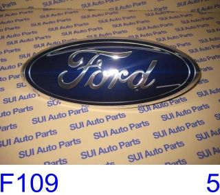 Ford Super Duty 2005 2007 Blue Oval Grille Emblem Factory OEM (F109