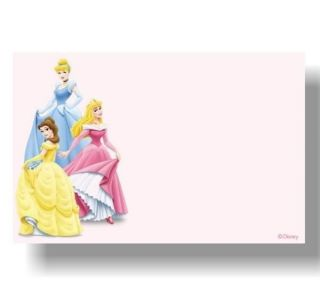 Disney Princess Personalized Thank You Note Cards