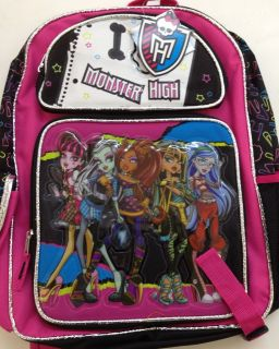 Monster High Large 16 Backpack Book Bag Sack School DRACULAURA