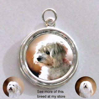 Havanese   Maltese DOG Cute   Silver CHARM   PENDANT