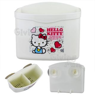 Sanrio Hello Kitty Bathroom Kitchen Cutlery Rack Holder Suction Stand