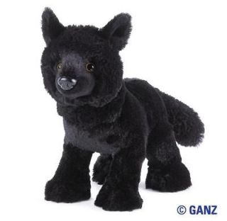 New Webkinz Plush Black Wolf Plush with unused code