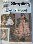 Daisy Kingdom Simplicity Sewing Pattern Girls Dress Pinafore Doll
