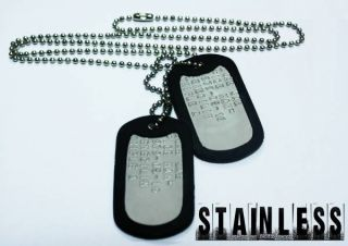 MILITARY ID DOG TAGS   PERSONALISED CUSTOM US ARMY STYLE MILSPEC