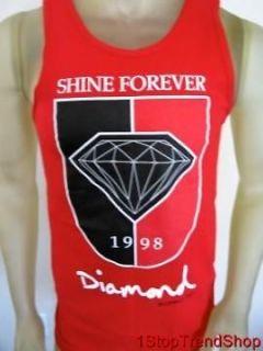 NWT Diamond Supply Co red tank top mens shirt skate size medium $30