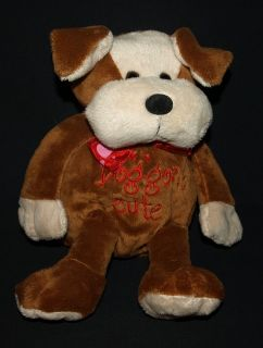 Dan Dee Collectors Choice Brown Dog Gone Cute Puppy Dog Stuffed Animal
