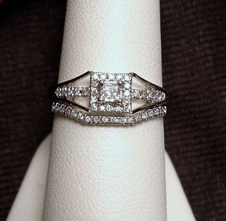 princess cut diamond wedding set in Engagement/Wedding Ring Sets
