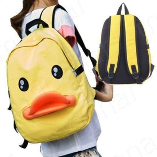 Canvas Duck Backpack School Bookbag Tote Handbag Rucksack Travel