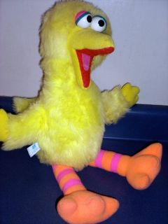Big Bird 20 Plush Doll Vintage Pull String Talking Stuffed Animal