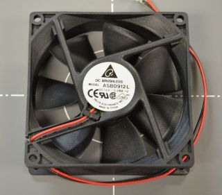 Electronics 12V DC .08A 92mm x 92mm x 25mm Brushless Fan [ASB0912L