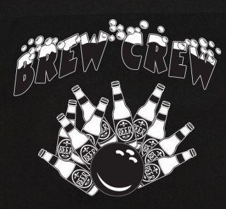 Black Classic retro bowling shirt DRINK & BOWL Darts or Pub Crawls FUN