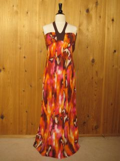2b bebe AUDREY HLTR JERSEY MAXI DRESS Womens XSmall $39.95 NWT
