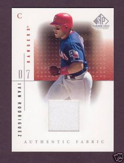 2001 SP Game Used Jersey Authentic Fabrics Rangers Upper Deck 01