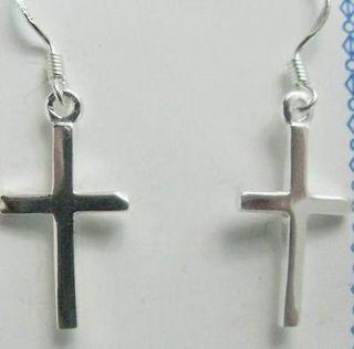 sterling silver cross earrings in Fashion Jewelry