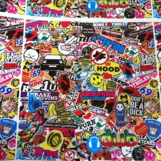StickerBombing Sheet   250x250mm Vinyl Sheet! Sticker bomb Wrap