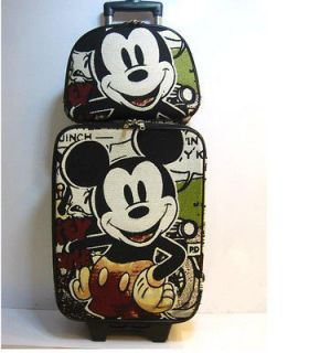 Popolar Mickey Mouse Trolley Travel Luggage Bag Roller Baggage 2Pc