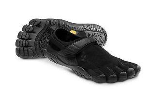 NEW Vibram Fivefingers Mens Black Leather Treksport Toe Shoes Kangaroo