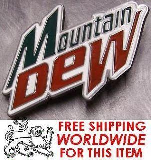 Pewter Belt Buckle novelty Mountain Dew Logo NEW