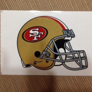 San Francisco 49ers helmet sticker, 2012 licensed NFL product