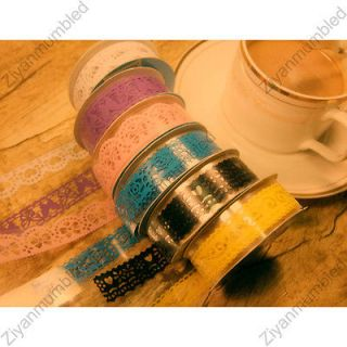 mark Craft Packing Lace Adhesive Tape Removable Decoration Sticker