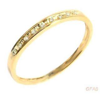 HER Real Diamond 10K Yellow Gold Wedding Ring / Anniversary Band
