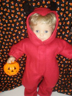 CLOTHES BITTY BABY / TWINS DEVIL HALLOWEEN COSTUME