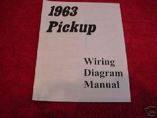 1963 63 CHEVROLET CHEVY TRUCK WIRING DIAGRAM