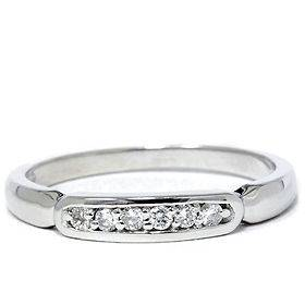 14K White Gold Ring .10CT Geniune Natural Diamond Anniversary Wedding
