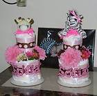Two Tier Diaper Cake Mini   You Choose Design
