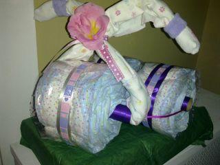FREE SHIPPING Baby Gift   Diaper Cake, Trike, Bike, Motorcycle, Jungle