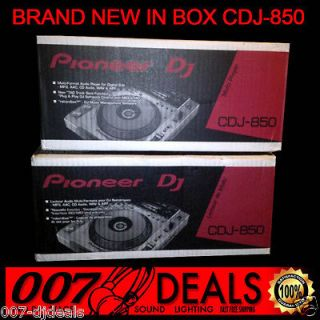 PRO DJ CDJ 850 MEDIA PLAYER W/ REKORDBOX SOFTWARE CLUB MP3 CD CDRW