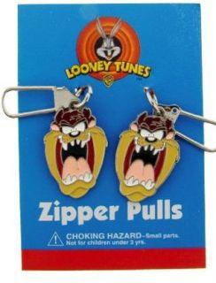 LOONEY TUNES TAZ TASMANIAN DEVIL ZIPPER PULL CHARM SET