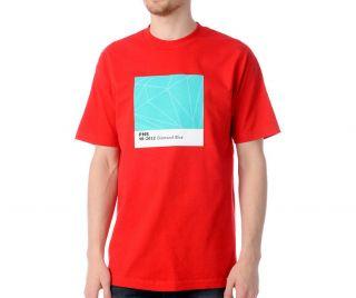 Diamond Supply Co. Pantone Color Red T Shirt Aqua Mint White Black