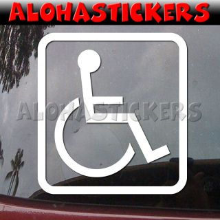 WHEELCHAIR DISABLED ICON Handicap Car ruck Boa Vinyl Decal Window