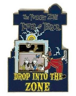 Disney Pin Mickey Mouse Twilight Tower of Terror Bellhop Drop into the