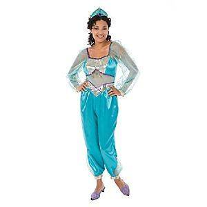 Disney Princess Jasmine Aladdin Adult Costume + Crown