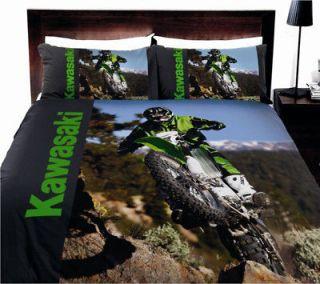 MOTOCROSS Kawasaki DIRT BIKE~QUEEN Size Quilt Cover Set