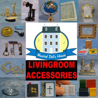 DOLLS HOUSE LIVING ROOM ACCESSORIES 1/12TH FREE P+P MINIATURE 30