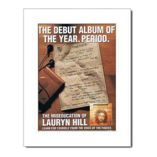 LAURYN HILL   The Miseducation of   White Matted Mini Poster