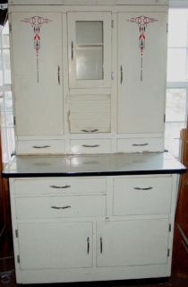 1940s~50s vintage Hoosier Cabinet with flour mill