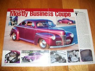 Original 1941 Ford Coupe Hot Rod Article