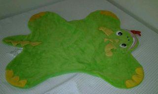 Disney Baby Einstein Green Dinosaur Dragon Soft Activity Play Blanket