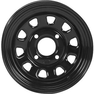 ITP Delta Steel Wheel 12x7 4+3 Offset 4/137 Black Black
